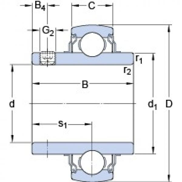 55.562 mm x 100 mm x 55.6 mm  SKF YAR 211-203-2FW/VA201 deep groove ball bearings #3 image