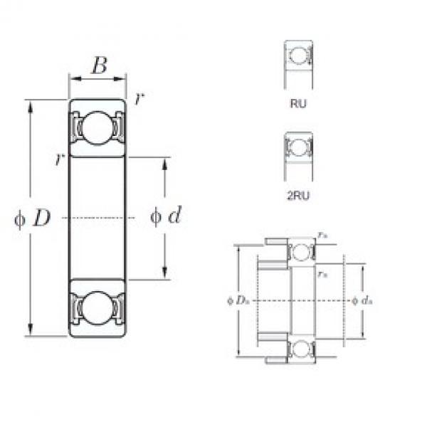 10 mm x 35 mm x 11 mm  KOYO 6300-2RU deep groove ball bearings #3 image