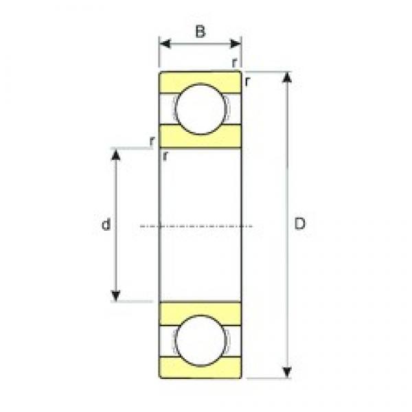 6,35 mm x 9,525 mm x 3,175 mm  ISB R168 deep groove ball bearings #3 image