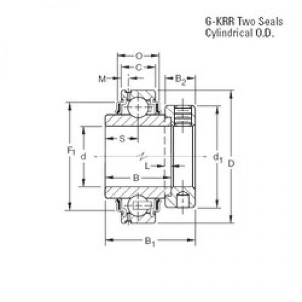 34,925 mm x 72 mm x 37,7 mm  Timken G1106KRR deep groove ball bearings #3 image