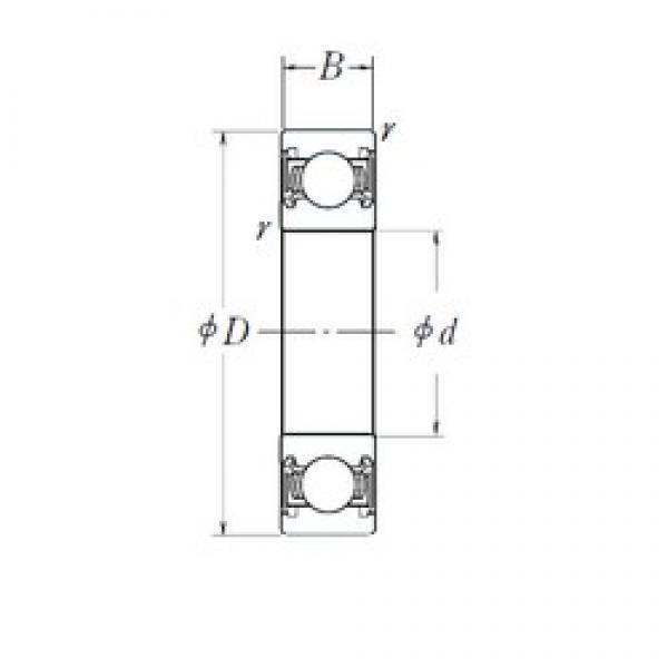 10 mm x 27 mm x 11 mm  NSK B10-50DD deep groove ball bearings #3 image