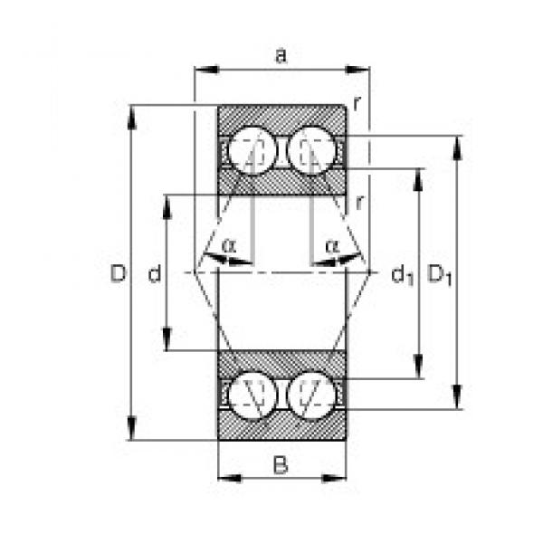 20 mm x 47 mm x 20,6 mm  FAG 3204-BD angular contact ball bearings #3 image