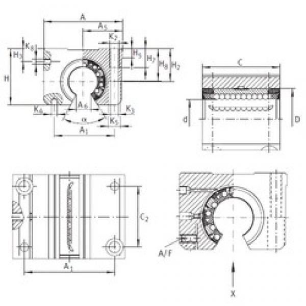INA KGNOS 25 C-PP-AS linear bearings #3 image