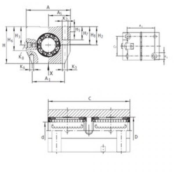 INA KTN 20 C-PP-AS linear bearings #3 image