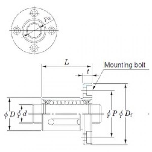 KOYO SDMF20MG linear bearings #3 image