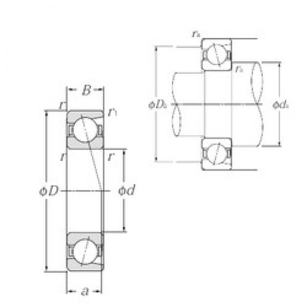 45 mm x 58 mm x 7 mm  NTN 7809C angular contact ball bearings #3 image