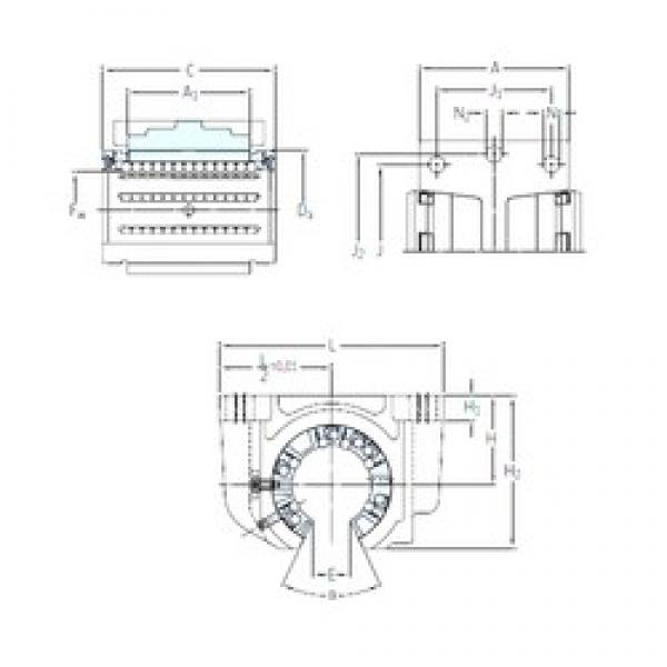 SKF LUCF 25-2LS linear bearings #3 image