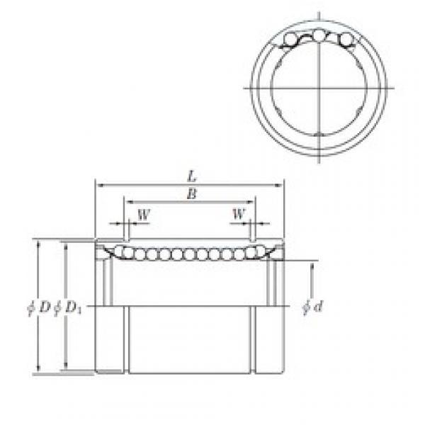 16 mm x 28 mm x 26.5 mm  KOYO SESDM16 linear bearings #3 image
