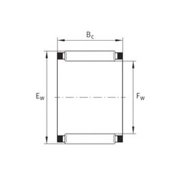 INA K20X26X17 needle roller bearings #3 image