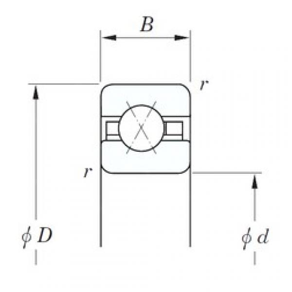 190,5 mm x 241,3 mm x 25,4 mm  KOYO KGX075 angular contact ball bearings #3 image