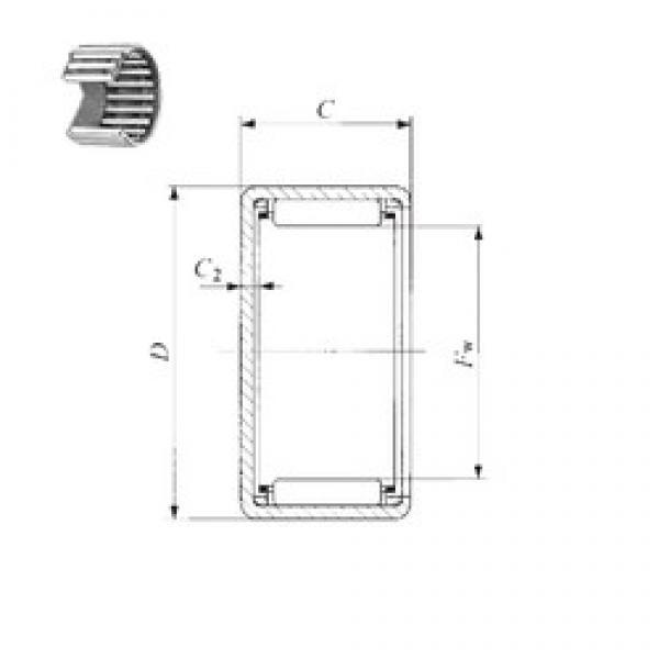 IKO BAM 4216 needle roller bearings #3 image