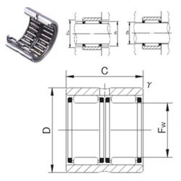 JNS RNAFW183024 needle roller bearings #3 image