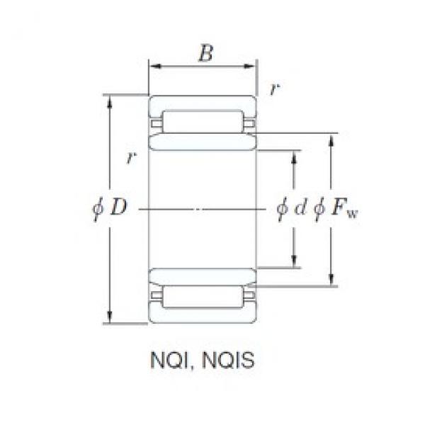 20 mm x 32 mm x 16 mm  KOYO NQI20/16 needle roller bearings #3 image