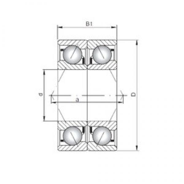 ISO 7028 CDB angular contact ball bearings #3 image