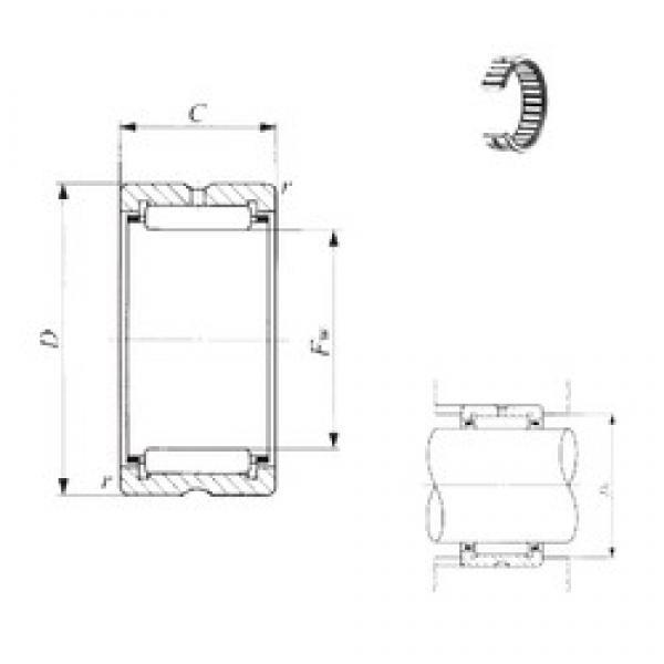 IKO TAF 71410 needle roller bearings #3 image