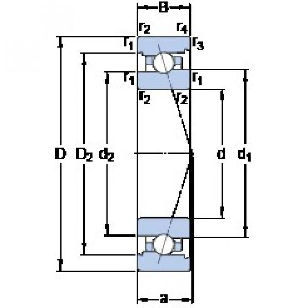65 mm x 100 mm x 18 mm  SKF 7013 ACB/P4A angular contact ball bearings #3 image