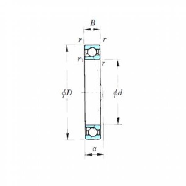 35 mm x 55 mm x 10 mm  KOYO 7907CPA angular contact ball bearings #3 image