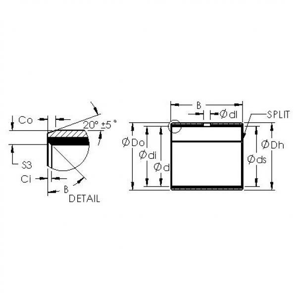 AST AST11 2525 plain bearings #3 image