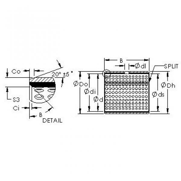 AST AST20 1415 plain bearings #3 image