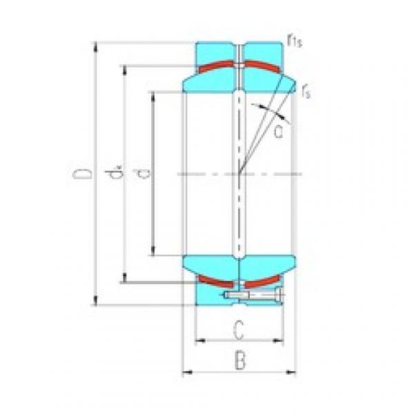 380 mm x 540 mm x 272 mm  LS GEH380HCS plain bearings #3 image