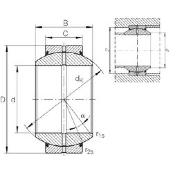 20 mm x 42 mm x 25 mm  INA GE 20 FO-2RS plain bearings #3 image