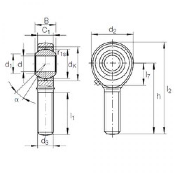 25 mm x 47 mm x 31 mm  INA GAKR 25 PB plain bearings #3 image