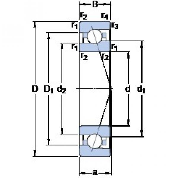 6 mm x 17 mm x 6 mm  SKF 706 ACE/P4A angular contact ball bearings #3 image