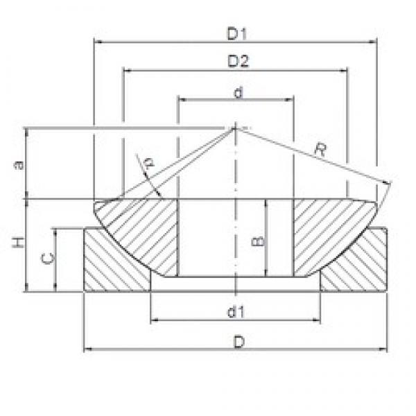 200 mm x 340 mm x 74 mm  ISO GE200AW plain bearings #3 image