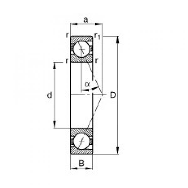 40 mm x 62 mm x 12 mm  FAG B71908-E-T-P4S angular contact ball bearings #3 image