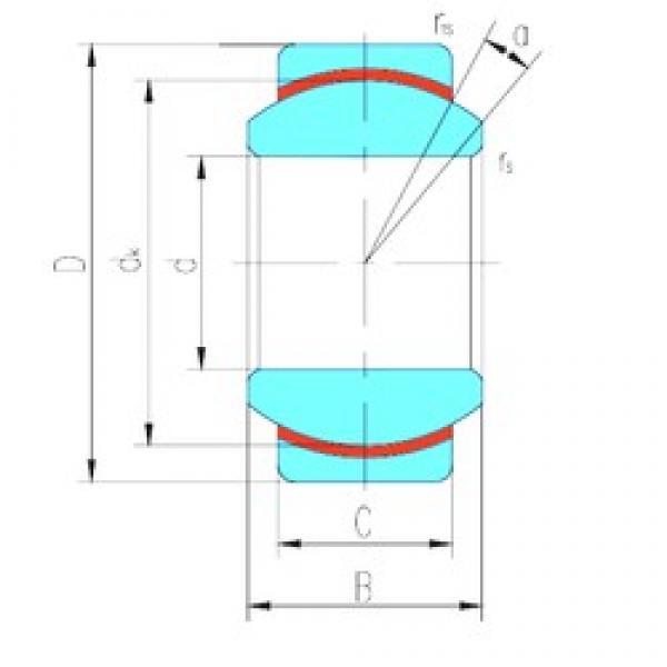 50 mm x 75 mm x 35 mm  LS GE50N plain bearings #3 image