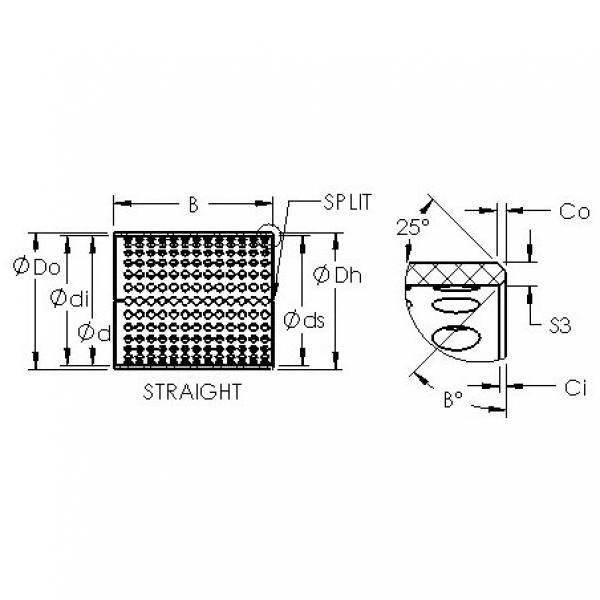 AST ASTT90 225100 plain bearings #3 image