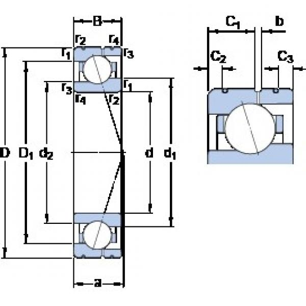 100 mm x 140 mm x 20 mm  SKF 71920 CE/P4AL angular contact ball bearings #3 image