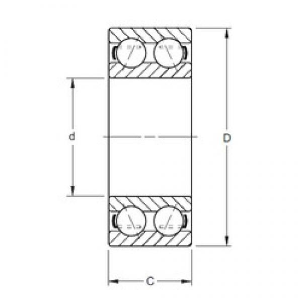 90 mm x 160 mm x 52,37 mm  Timken 5218W angular contact ball bearings #3 image