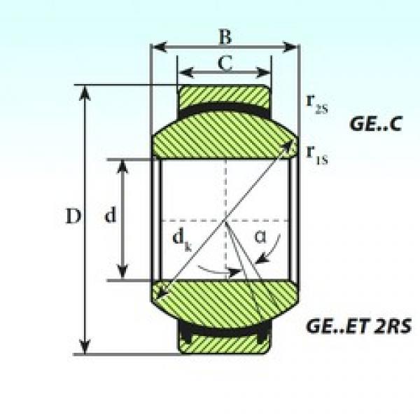 4 mm x 12 mm x 5 mm  ISB GE 4 C plain bearings #3 image