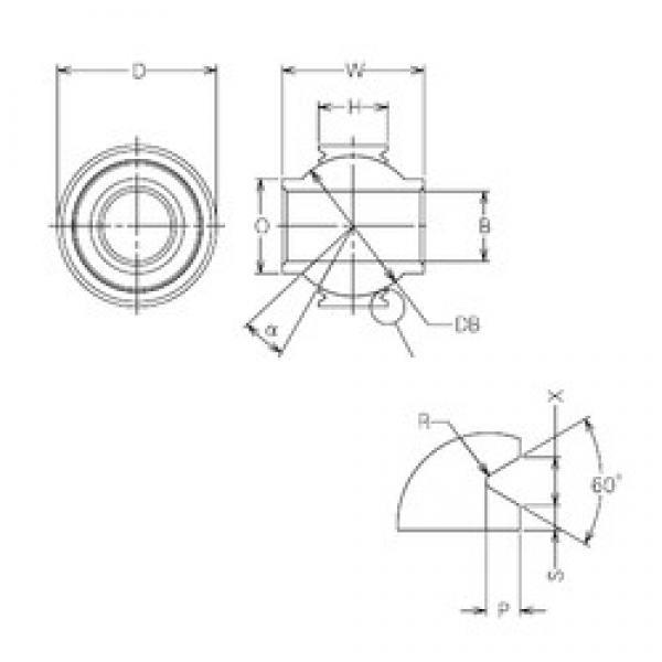 6 mm x 19 mm x 6 mm  NMB MBY6VCR plain bearings #3 image