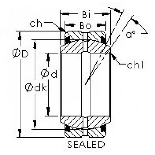 AST GE120ES-2RS plain bearings #3 image