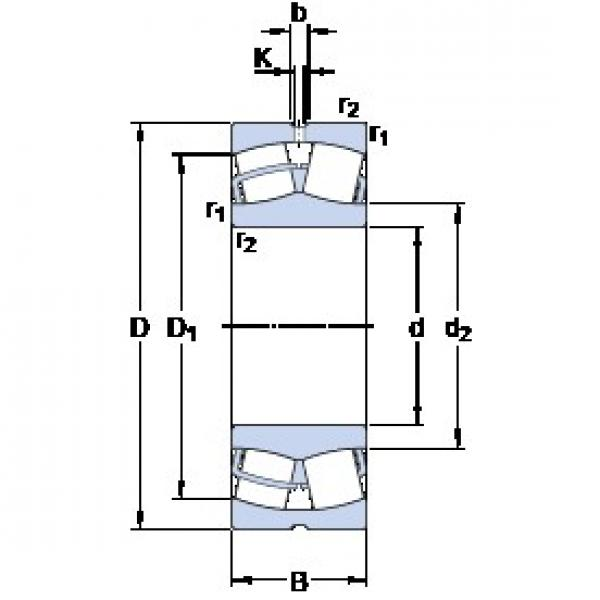 55 mm x 120 mm x 43 mm  SKF 22311 E spherical roller bearings #3 image