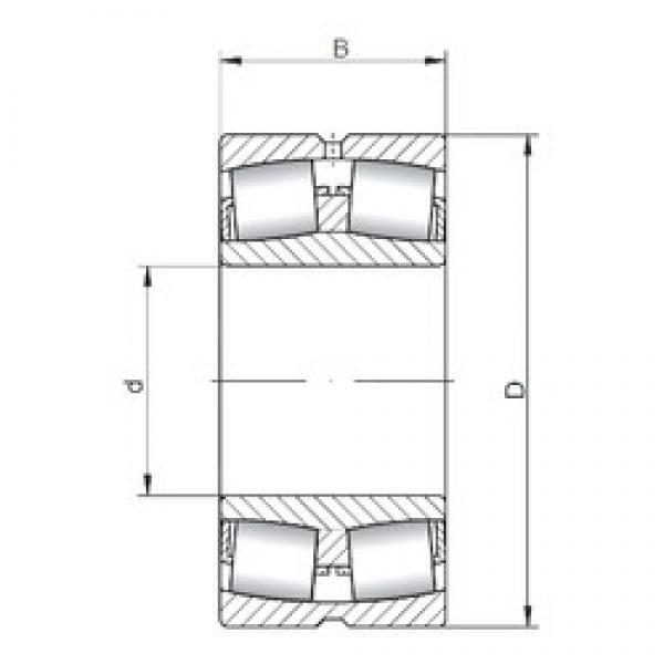 750 mm x 1000 mm x 185 mm  ISO 239/750W33 spherical roller bearings #3 image