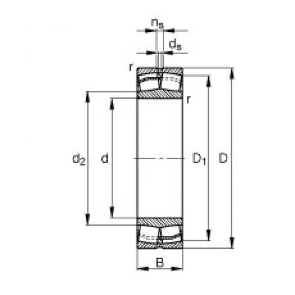 90 mm x 160 mm x 52,4 mm  FAG 23218-E1-TVPB spherical roller bearings #3 image