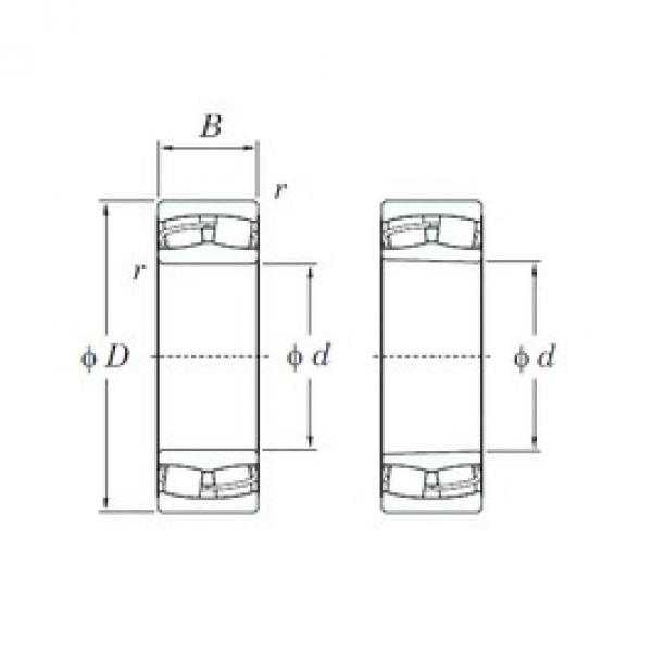 55 mm x 100 mm x 25 mm  KOYO 22211RHRK spherical roller bearings #3 image