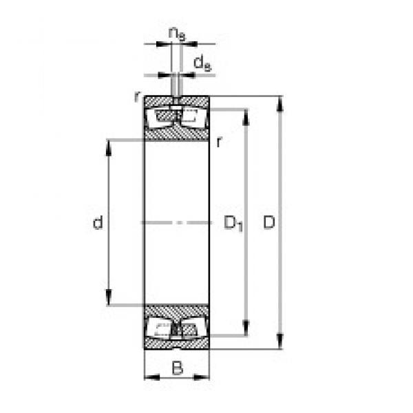 110 mm x 170 mm x 45 mm  FAG 23022-E1A-M spherical roller bearings #3 image