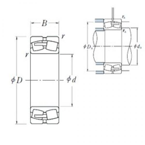 360 mm x 600 mm x 192 mm  NSK 23172CAE4 spherical roller bearings #3 image