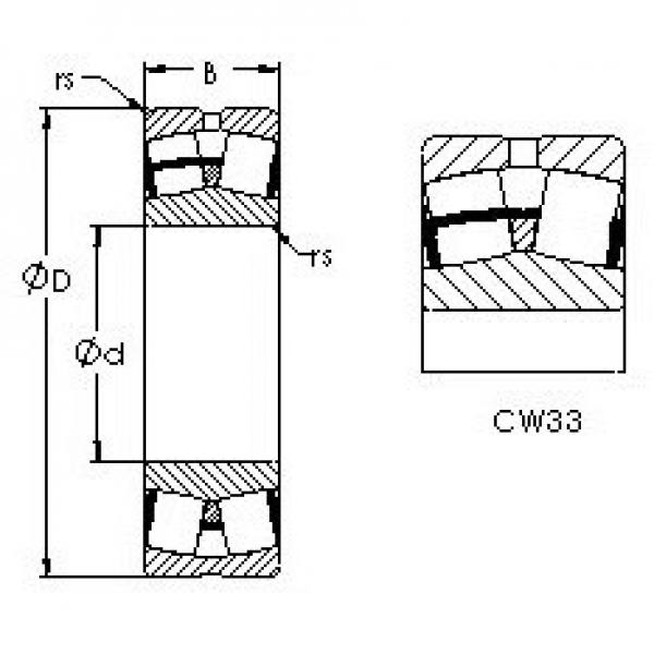AST 22328CW33 spherical roller bearings #3 image