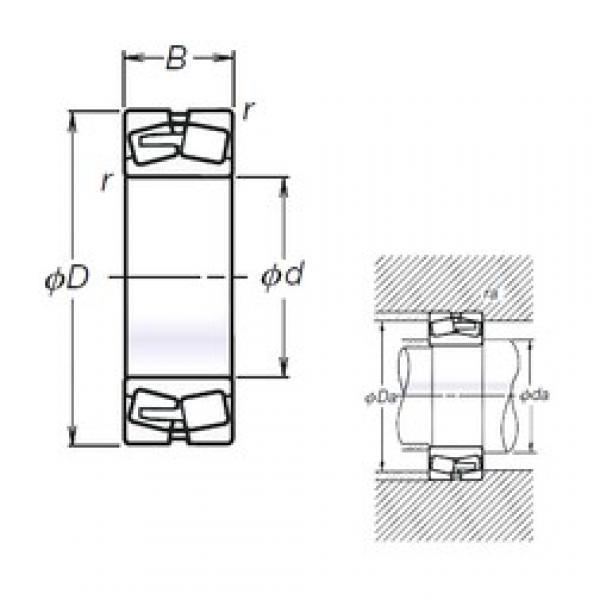 220 mm x 460 mm x 145 mm  NSK TL22344CAE4 spherical roller bearings #3 image