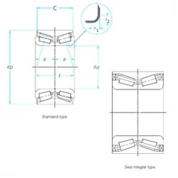 45 mm x 90 mm x 54 mm  NTN 4T-CRI-0966 CS130PX1/L588 tapered roller bearings #3 image