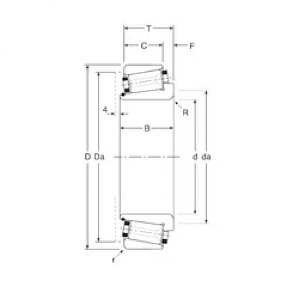 139,7 mm x 215,9 mm x 51 mm  Gamet 200139X/ 200215X tapered roller bearings #3 image