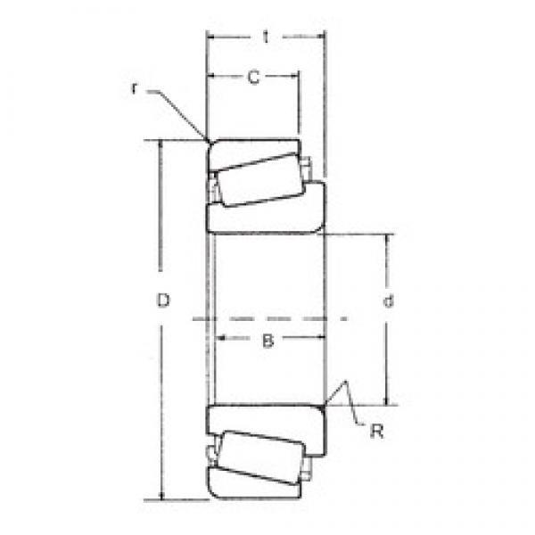 69,85 mm x 168,275 mm x 56,363 mm  FBJ 835/832 tapered roller bearings #3 image